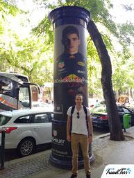 Max Verstappen advertentie in Boedapest (Andrássy út)