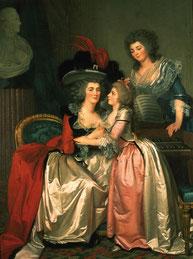 Jean-Laurent Mosnier Portrait de la famille Bergeret de Grandcourt, vers 1785, huile sur toile, collection musée des beaux-arts de Brest.