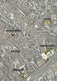 Plan des friches dans le quartiers de la Belle de Mai