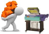 Retractiladora_de_cajas. Máquinas_para_retractilar. Máquina_para_agrupar.