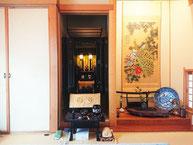 黒檀二方練り18号台付国産仏壇