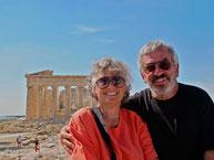 Hanni und Claus auf der Akropolis