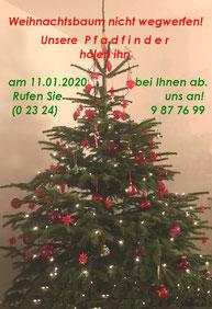 Weihnachtsbaum 2019 in einem Pfadfinderhaushalt