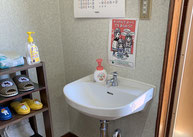教室内手洗い