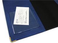 かわいい おすすめ B5ノートカバー ペンホルダー付き ブルー