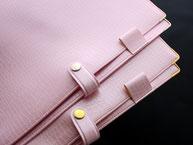 かわいい おすすめ A4ノートカバー ペンホルダー付き ピンク