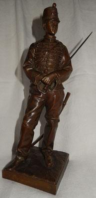 bronze  C.d'astanières chasseur a cheval