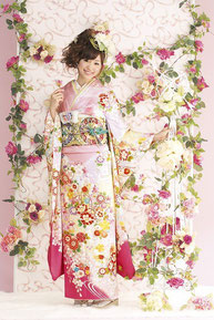 minori振袖カタログ JS-017 販売価格 398,000円 オーダーレンタル店頭発表