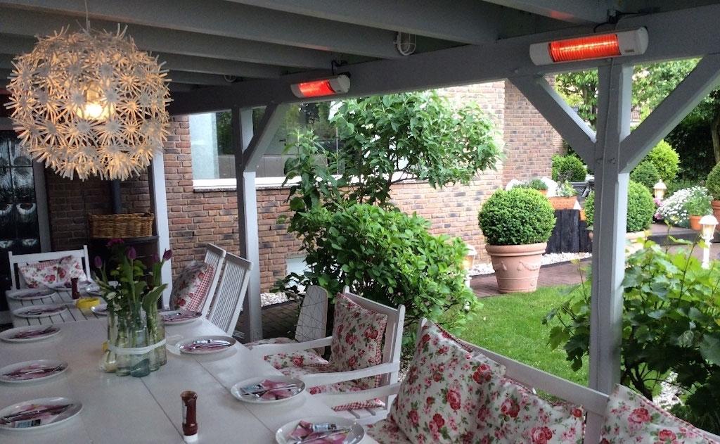 terrasse heizen infrarot. Black Bedroom Furniture Sets. Home Design Ideas