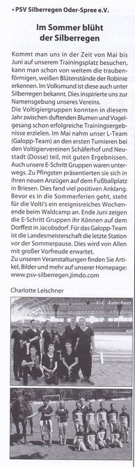 """Odervorland Kurier"", Juli-Ausgabe 2014"