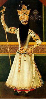 Михр Али. Портрет Фатх Али Шаха. 1809-10. Эрмитаж, Санкт Петербург