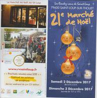 flyer marché de Noel à St Loup 79600