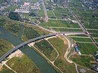 県単地方特定道路整備(橋梁)工事 北方多度線(犀川橋)