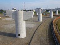 東海環状養老JCT・Fランプ橋中下部工事