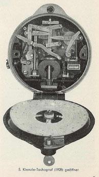 Kienzle-Tachograf (1928) geöffnet