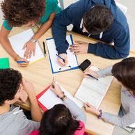 Lernende in der Minigruppe