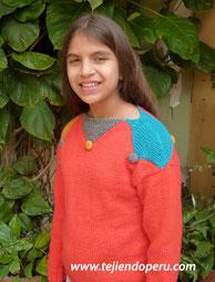 Tutorial: cómo tejer con 2 o más colores de lana (chompa arlequín para niños)