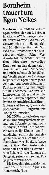 08.02.2019 - Kölner Stadt-Anzeiger