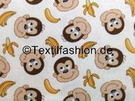 Affen beige (Motivgröße Köpfe ca. 12x12cm)