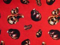 Nr.34 Totenköpfe gruselig rot