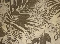 Nr.8  Blätter khaki auf cremeweiß