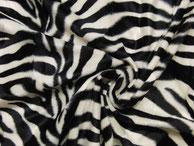 Fellimitat kurzhaar Zebra cremeweiß/ schwarz