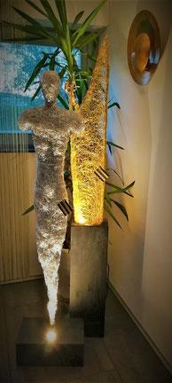 Drahtskulptur Mann
