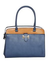 City-Handtasche blau-braun günstig