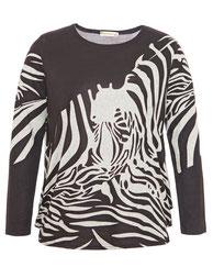 brauner Pullover mit Zebradesign Gr 48