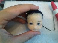 羊毛フェルト 三日月宗近 人形 作り方