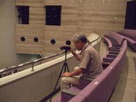 ビデオ担当は2階席でスタンバイ
