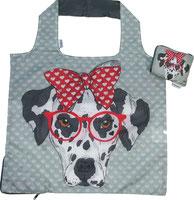 Chilino Bag Tasche Hund Brille Schleife, grau