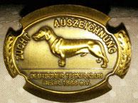 Bronzene Züchternadel für Ausstellung