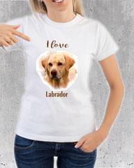 teeshirt labrador pour femme