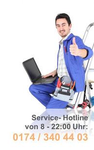 service hotline 01743404403