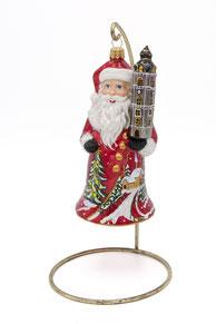 Boule de Nöel Père Noël Santa Beffroi Mons Boule en verre
