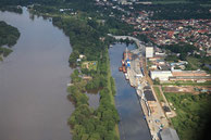 Luftbilder Hochwasser Aken