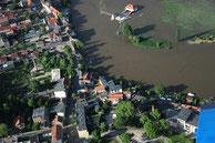 Luftbilder Hochwasser Calbe