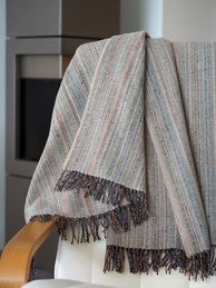 Plaid Heritage Tweed - Sand Dash Lines - S. Fischbacher Living