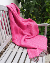 Plaid Heritage Tweed - Pink Dash Lines - S. Fischbacher Living