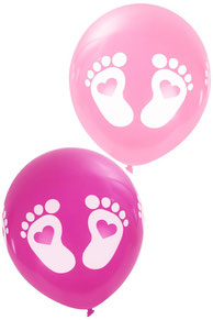 Ballonnen roze 8 st € 2,25