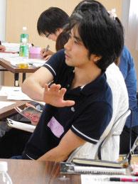 庄司亮一さん。第4期第1回セミナーにて。