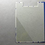 Dreiecktasche transparent 14 x 21 cm