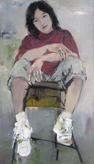 年轻导演 YOUNG DIRECTOR 120X70CM 布面油画 OIL ON CANVAS 2006 (收藏于上海 COLLECTED IN SHANGHAI)