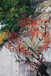 九寨怀中 INTO THE WILD 150X100CM   布面油画  OIL ON CANVAS 2011