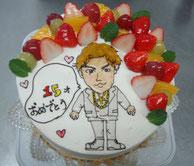 大好きなイラストをケーキで贈ると喜ぶ顔が目に浮かびます♪と嬉しいコメントいただきました。