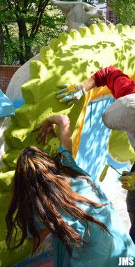 Partizipatives Kunstprojekt - Drachen Gestaltung - Hannover - Linden Mitte
