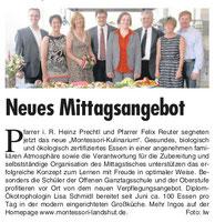 Artikel in Landshuter Wochenblatt vom 31.07.2013