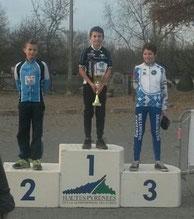 1er place pour notre benjamin Loïs Saubère Cyclo-Cross 2015 à Tarbes (65)