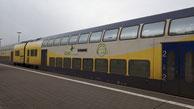 Ruhewagen Typ DBpza der Regionalverkehre Start Deutschland (ex Metronom),  RE5 -> Hamburg Hauptbahnhof -> Cuxhaven, de:Bahnhof CuxhavenBahnhof Cuxhaven,